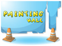 Cartoon vector illustration interior painting wall with separated layers. In 2d graphic Royalty Free Stock Image
