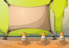 Cartoon vector illustration interior painting wall with separated layers. In 2d graphic Royalty Free Stock Images