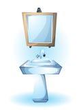 Cartoon vector illustration interior sink object Royalty Free Stock Photo