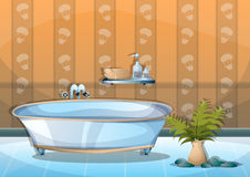 Cartoon vector illustration interior spa room with separated layers Stock Photography