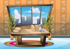 Cartoon vector illustration interior spa room with separated layers Stock Images