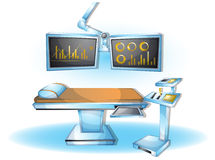Cartoon vector illustration interior surgery operation room with separated layers Stock Photography