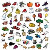 Random collection II. Cartoon vector illustration of a random collection II Stock Image