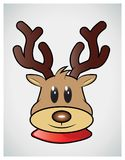 Reindeer face game Royalty Free Stock Photo