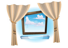 Vector open window stock images image 29418104 for Fenetre pvc dwg