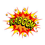Cartoon Vector Kaboom Royalty Free Stock Image