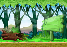 Cartoon vector landscape with separated layers. For game and animation, game design asset Stock Photography