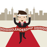 Cartoon vector. Leadership concept. Business man success, Leadership concept Stock Images