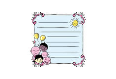 Cartoon Vector Memo, Cards, Notes, Stickers, Labels, Tags. Cartoon Vector Memo Cards Notes  Stickers, Labels, Tags.Vector Illustration Stock Photo