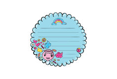 Cartoon Vector Memo, Cards, Notes, Stickers, Labels, Tags. Cartoon Vector Memo Cards Notes Stickers Labels, Tags. Vector Illustration Stock Images