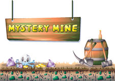 Cartoon vector mine game object with separated layers for game and animation Stock Images