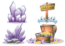Cartoon vector mine game object with separated layers for game and animation Royalty Free Stock Photos