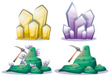 Cartoon vector mine game object with separated layers for game and animation Stock Photography