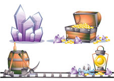 Cartoon vector mine game object with separated layers for game and animation Stock Photo