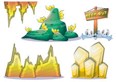 Cartoon vector mine game object with separated layers for game and animation Stock Photos
