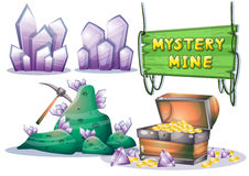 Cartoon vector mine game object with separated layers for game and animation Royalty Free Stock Image