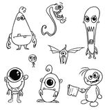 Cartoon Vector Monsters Set02. Set02 of cartoon vector doodle monsters Royalty Free Stock Images