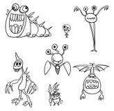 Cartoon Vector Monsters Set03 Royalty Free Stock Photo