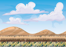 Cartoon vector nature landscape background with separated layers for game art and animation. Game design asset in 2d graphic Stock Photo