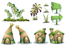Cartoon vector nature landscape object with separated layers for game art and animation game design asset Royalty Free Stock Image