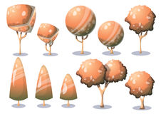 Cartoon vector nature landscape object with separated layers for game art and animation game design asset. In 2d graphic Stock Photo
