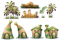 Cartoon vector nature landscape object with separated layers for game art and animation game design asset Stock Photography