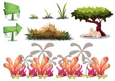 Cartoon vector nature landscape object with separated layers for game art and animation game design asset. In 2d graphic Stock Images
