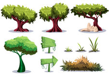 Cartoon vector nature landscape object with separated layers for game art and animation game design asset. In 2d graphic Royalty Free Stock Photos