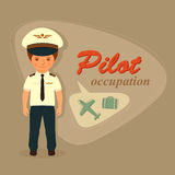 Cartoon vector pilot Stock Photo