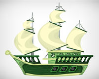 Cartoon vector pirate object for game and animation Stock Photo