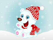 Cartoon Vector Polar Bear Royalty Free Stock Photography