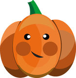 Cartoon vector pumpkin. Cartoon pumpkin that can be used in various templates Stock Photo