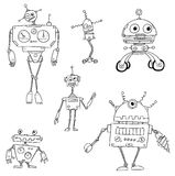 Cartoon Vector Robot Set02 Royalty Free Stock Photos