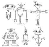 Cartoon Vector Robot Set03 Royalty Free Stock Image