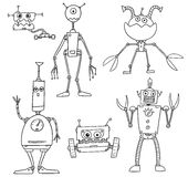 Cartoon Vector Robot Set04 Stock Images
