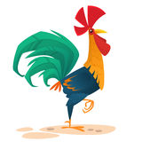 Cartoon vector rooster. Design element for Chinese New Year. royalty free stock photo