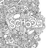 Cartoon vector school sketch background Stock Images