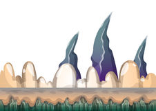 Cartoon vector sea background with separated layers for game art and animation Stock Photography