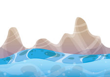 Cartoon vector sea background with separated layers for game art and animation Royalty Free Stock Photos