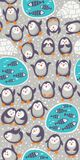 Cartoon vector seamless pattern with funny Royalty Free Stock Photos