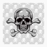 Cartoon Vector Skull . Hand drawn. Eps8 Stock Photo