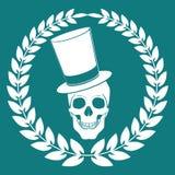 Cartoon Vector skull  joker  illustration eps 10 Stock Photos