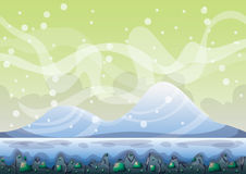 Cartoon vector sky background with separated layers for game art and animation Royalty Free Stock Image