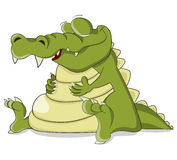 Cartoon vector sleeping crocodile Stock Photography