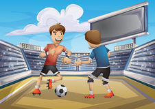 Cartoon vector soccer sport with separated layers for game and animation Stock Photo