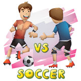 Cartoon vector soccer sport with separated layers for game and animation Royalty Free Stock Photo