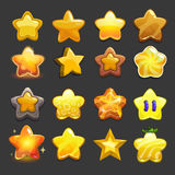 Cartoon vector star icons set vector illustration