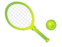 Cartoon Vector Tennis Racket with Tennis Ball Stock Photography