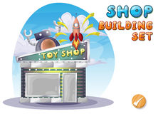 Cartoon vector toy shop for game and animation Stock Photography