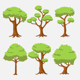 Cartoon Vector Tree with Bright Color Stock Photos